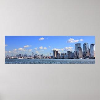 Poster del horizonte de New York City