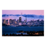 Poster del horizonte de San Francisco