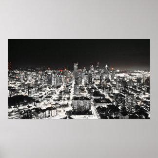 Poster del horizonte de Seattle