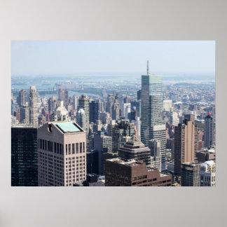 Poster del horizonte del Lower Manhattan