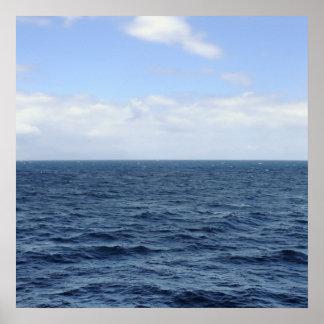 poster del horizonte del mar y del cielo