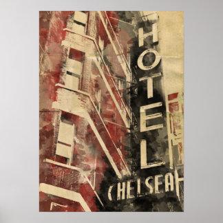 Poster del hotel de Chelsea del hotel
