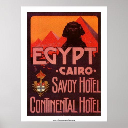 Poster del hotel de Egipto del vintage