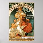 Poster del ideal de Alfonso (Alfonso) Mucha Chocol