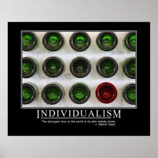 Poster del individualismo