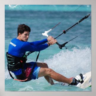 Poster del individuo de Kitesurfing