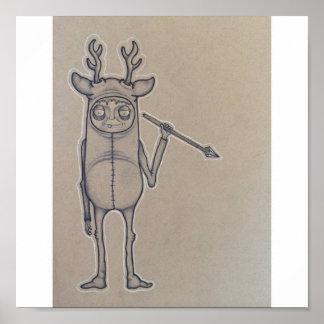 Poster del individuo de los ciervos