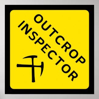 Poster del inspector del afloramiento
