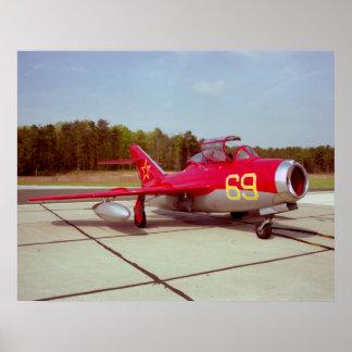 Poster del instructor del MiG Póster