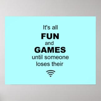 Poster del Internet de WiFi que pierde - azul clar