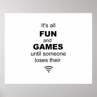 Poster del Internet de WiFi que pierde - blanco
