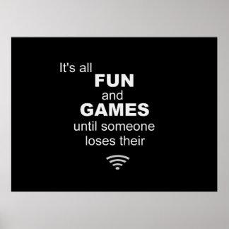 Poster del Internet de WiFi que pierde - negro