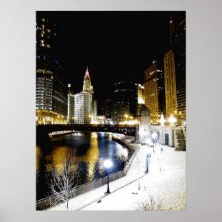 Poster del invierno de Chicago