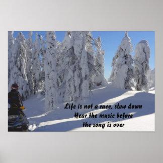 Poster del invierno de la cita del retraso