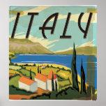 Poster del italiano del vintage