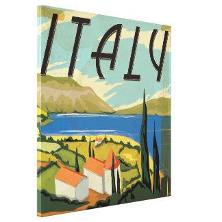Poster del italiano del vintage impresiones en lona