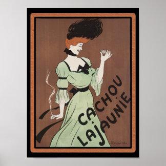 Poster del jabón de Nouveau del francés del vintag