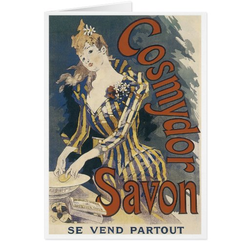 Poster del jabón de Savon Tarjeta