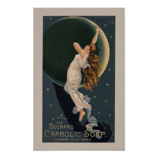 Poster del jabón del vintage