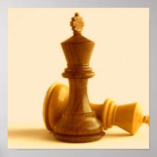 Poster del jaque mate del ajedrez