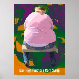 Poster del jarabe de maíz de la alta fructosa de l póster