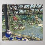 Poster del jardín de té