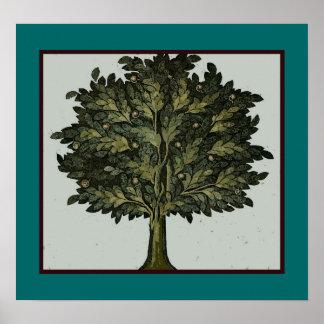 Poster del jardín del árbol