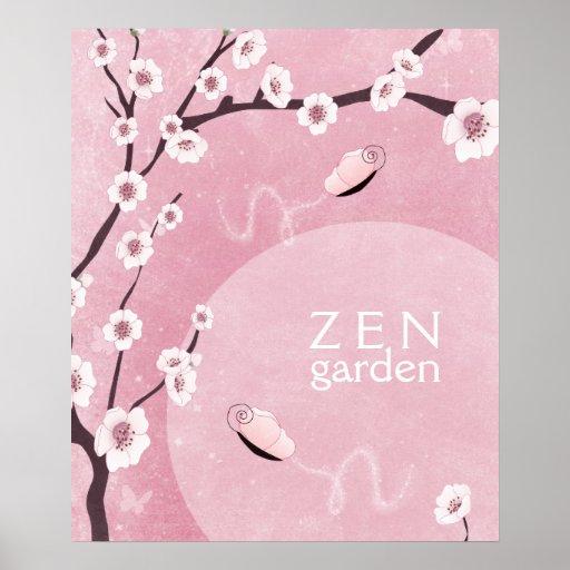 Poster del jardín del zen