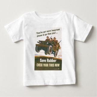 Poster del jeep del vuelo playera de bebé