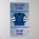 Poster del jersey del jugador de hockey