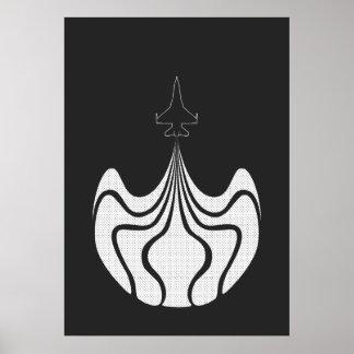 Poster del jet - negro y blanco