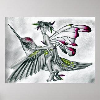Poster del jinete del colibrí