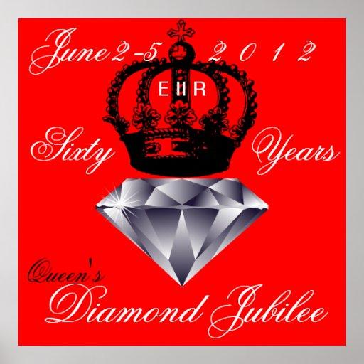 Poster del jubileo de diamante del Queens