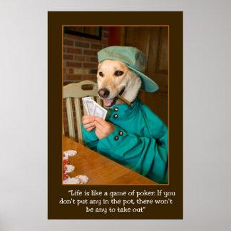 POSTER del juego de póker (perro que trata Póster