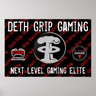 Poster del juego del apretón de Deth