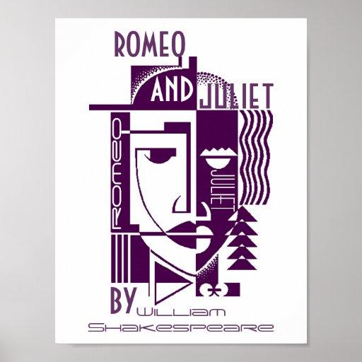 Poster del juego para Romeo y Juliet William Shake