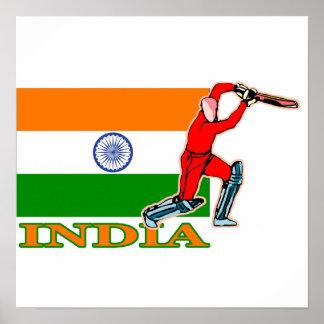 Poster del jugador del grillo de la India