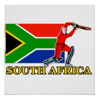 Poster del jugador del grillo de Suráfrica