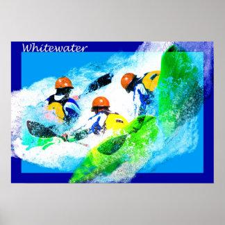 Poster del kajak de Whitewater