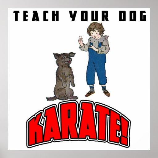 Poster del karate 4 del perro