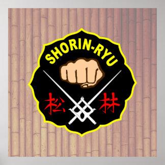 Poster del karate de Shorin-Ryu Okinawa