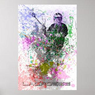 poster del lacrosse de la salpicadura