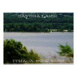 Poster del LAGO del CAYUGA, ITHACA NUEVA YORK