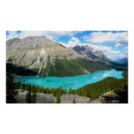Poster del lago mountains rocosas