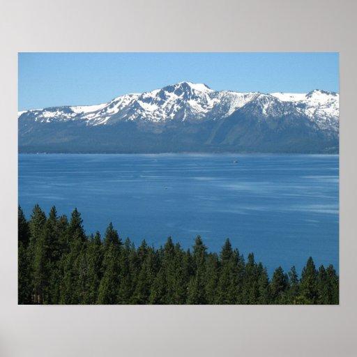 Poster del lago Tahoe