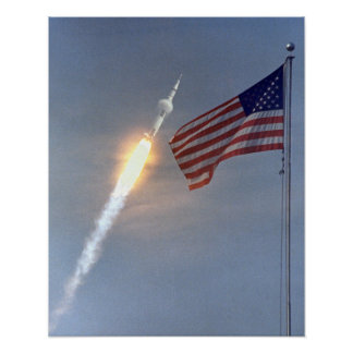 Poster del lanzamiento de Apolo 11 Póster