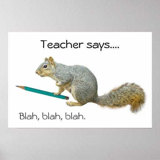 Poster del lápiz de la ardilla