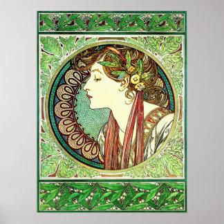 Poster del laurel de Alfonso Mucha
