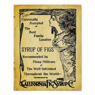 Poster del laxante del vintage póster