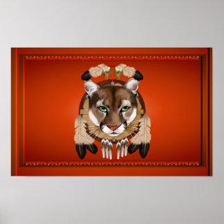 Poster del león del puma